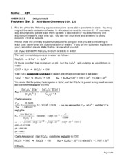 CHEM 3111 Problem set 8 KEY