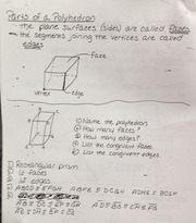 Geometry Part of Polyhedron Notes