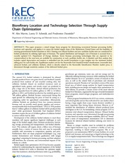 Biorefinery Location and Technology Selection Through Supply Chain Optimization