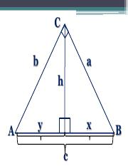 RIGHT TRIANGLE SIMILARITY AND PYTHAGOREAN THEOREM (1)