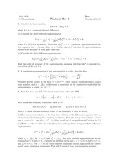 Numerical Methods for Differential Equations Homework 8