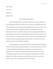 response paper to cathedral emily nelson english response  6 pages essay 2