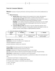 Consumer Behavior Study Guide