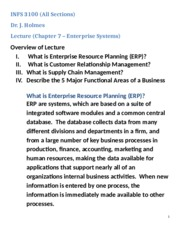 Enterprise Business Systems Lecture Notes