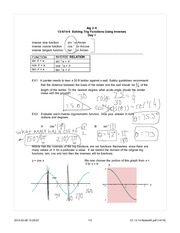 Solving trig functions using inverse notes
