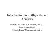 Introduction to the Phillips Curve Analysis