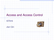 Access and Access Control