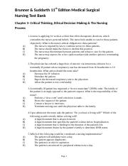 Chapter 3- Critical Thinking