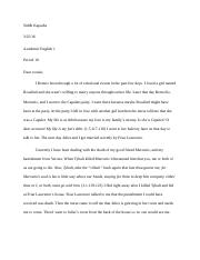 Romeo and Juliet writing project