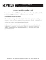 a letter from birmingham jail letter from birmingham by martin luther king jr 45998