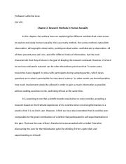Human Sexuality - Opinion Chapter 2