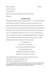 Special Classical Chinese Assignment 3