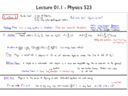 Lecture 1.1 notes