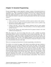 Chapter15 dynamic programming