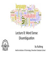 Lecture_8-Word_Sense_Disambiguition v2016