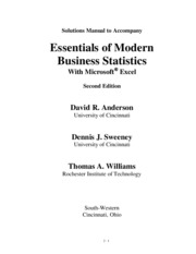Solution Manual essentials of Modern Business Statistics