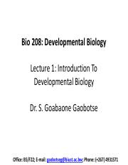 Lecture 1 - Introduction To Developmental Biology.pdf