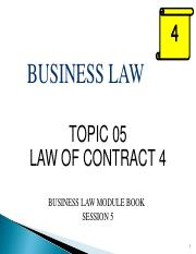 BUS115Jan2017_Topic 05 - Contract 4