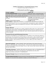 Differentiated Lesson Plan 2 EDUC 307