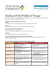 Dealing with Hunger Handout-1