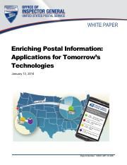 us-postal-applications for tomorrow technology