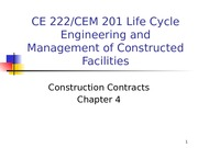 Chapter 4 - Construction Contracts - outline(1)