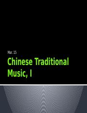 Chinese Traditional Music, I.pptx