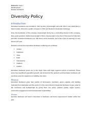 Task 1- Diversity Policy.docx