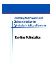 RuntimeOptimization