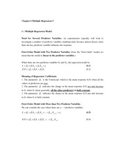 Chapter 6 Multiple Regression