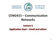 Lecture 5 -app layer- email -dns