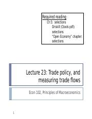 (23) Trade Policy & Measuring Trade Flow.pptx