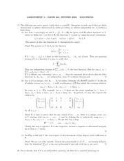 MATH 251 Assignment 1 Solutions