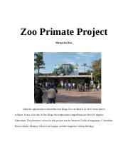 Zoo Primate Project.docx
