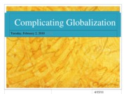 Week_3-What is Globalization_Friedman_Gutek