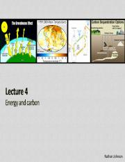 Lecture 04 - Energy and Carbon