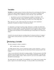 Notes On Variables.doc