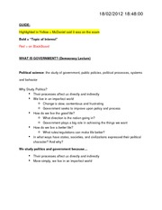 GOV 310L EXAM 1.1 NOTES