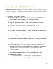 Chapter 12 Corporations Lesson Notes