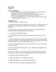 Study Guide chapter 15