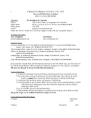 cl cv 1550-001 Syllabus MW fall 2012