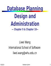 8 Database Planning Design and Administration.ppt