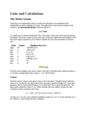 Lecture Note - Units and Calculations