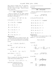 Homework on partial derivatives