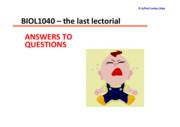 BIOL1040_FinalLectorial_QuswithAnswers_Sem2_2010