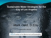LAs Sustainable water Future