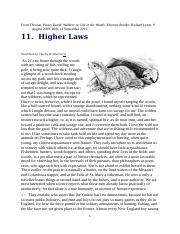 Thoreau's Walden Higher Laws and Conc.docx