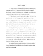 speech critique example essay topics   essay for you    speech critique example essay topics   image
