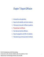 Chapter 7 Dopant diffusion _ II.pptx