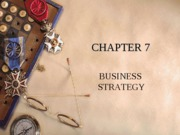 Chapter 7 - Business Strategy